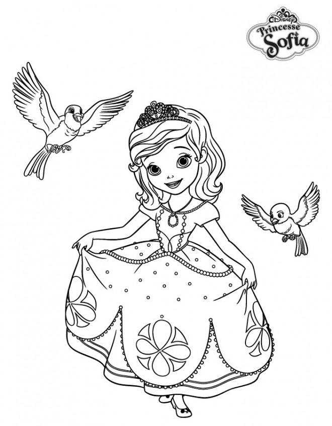Coloriage disney princesse sofia dessin gratuit imprimer - Coloriage princesse ambre ...
