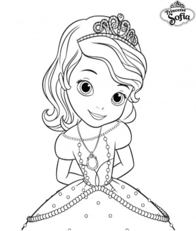 Coloriage et dessins gratuits Princesse Sofia de Disney à imprimer
