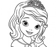 Coloriage Princesse Sofia dessin facile