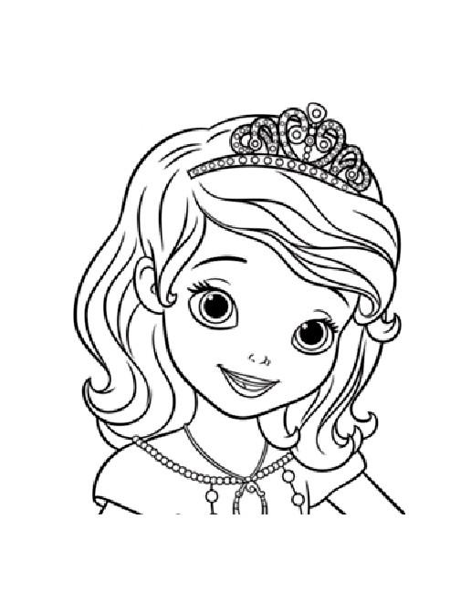 Coloriage princesse sofia dessin facile dessin gratuit imprimer - Dessin de disney facile ...