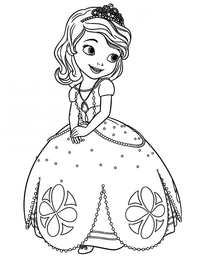 Coloriage Gratuit Princesse Sofia.Coloriage Princesse Sofia Disney Dessin Gratuit A Imprimer