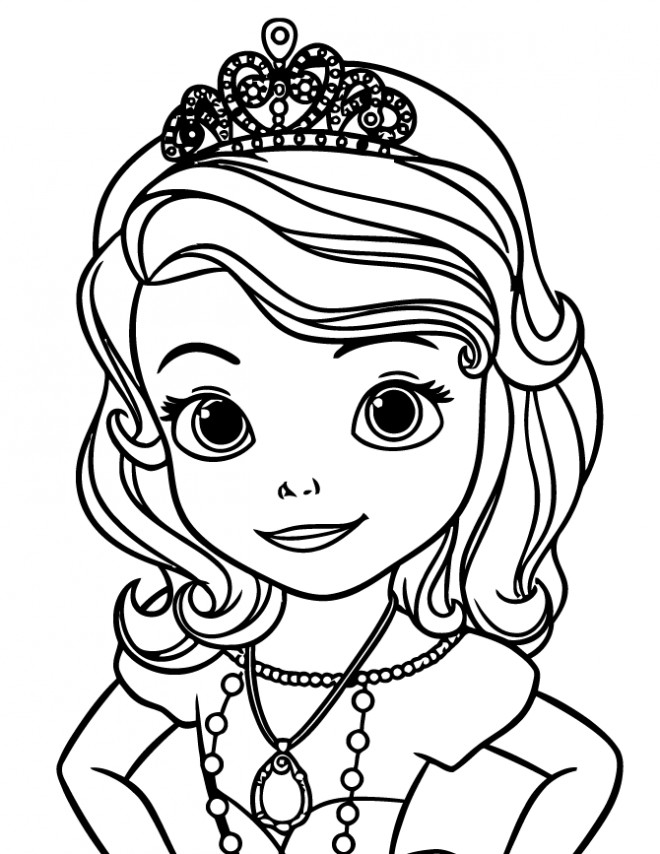 Coloriage princesse sofia en robe de bal dessin gratuit - Dessin de sofia ...