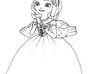 Coloriage Princesse Sofia est heureuse