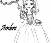 Coloriage et dessins gratuit Princesse Sofia et Ambre à imprimer
