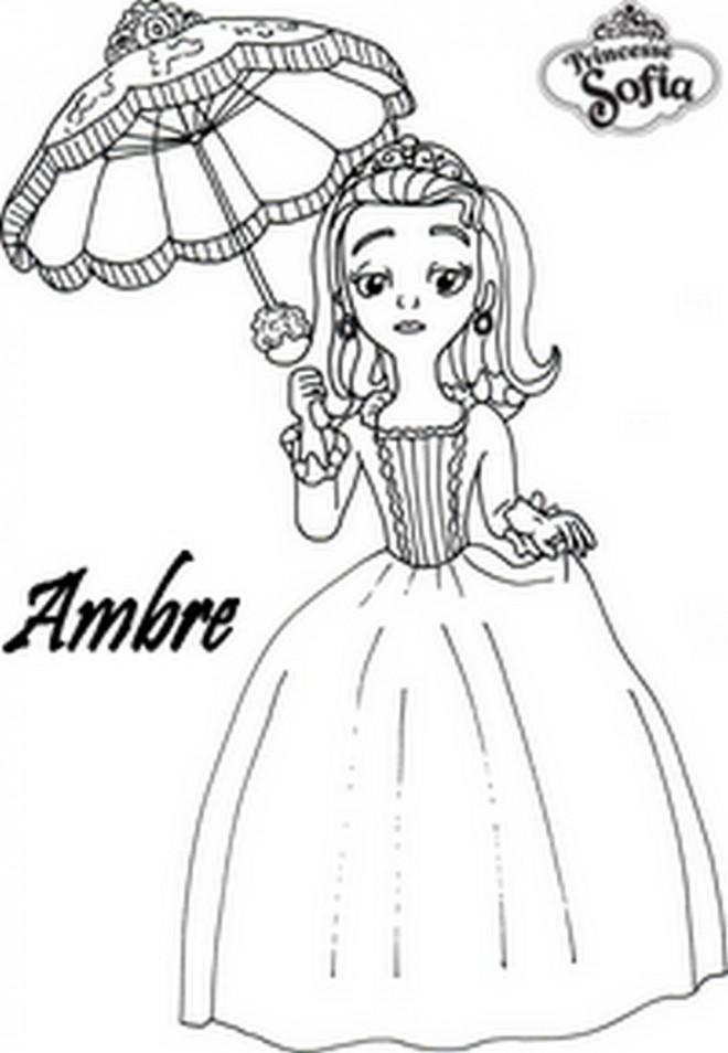 Coloriage Princesse Sofia Et Ambre Dessin Gratuit A Imprimer