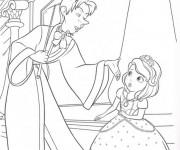 Coloriage Princesse Sofia et Cédric le magicien