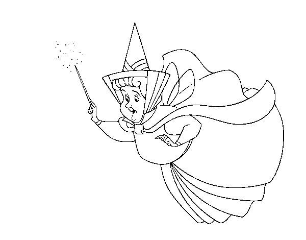 Coloriage et dessins gratuits Princesse Sofia et la gentille Flora à imprimer