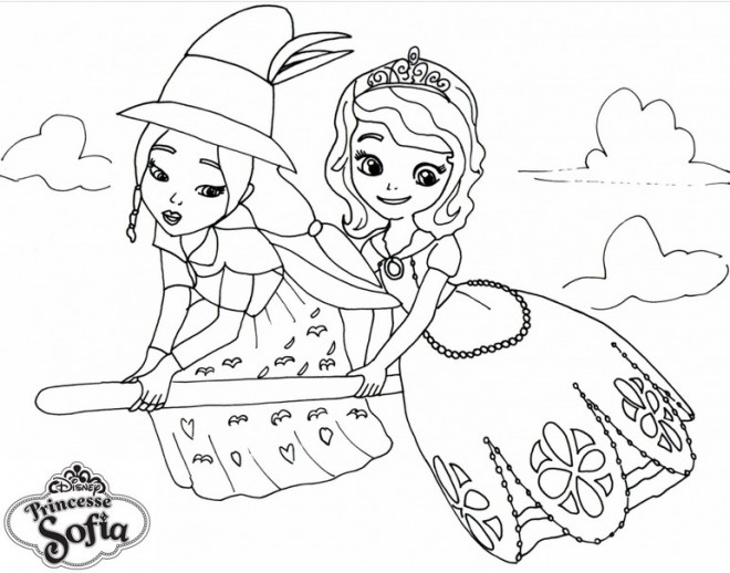Coloriage Princesse Sofia Et La Malédiction De Princesse Eva