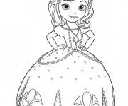 Coloriage et dessins gratuit Princesse Sofia et la princesse papillon à imprimer