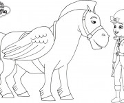 Coloriage et dessins gratuit Princesse Sofia et le cheval volant à imprimer