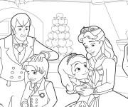 Coloriage et dessins gratuit Princesse Sofia et sa famille à imprimer