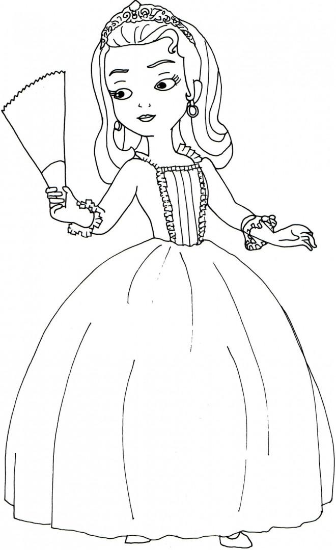 Coloriage Princesse Sofia Et Sa Soeur Ambre Dessin Gratuit A Imprimer