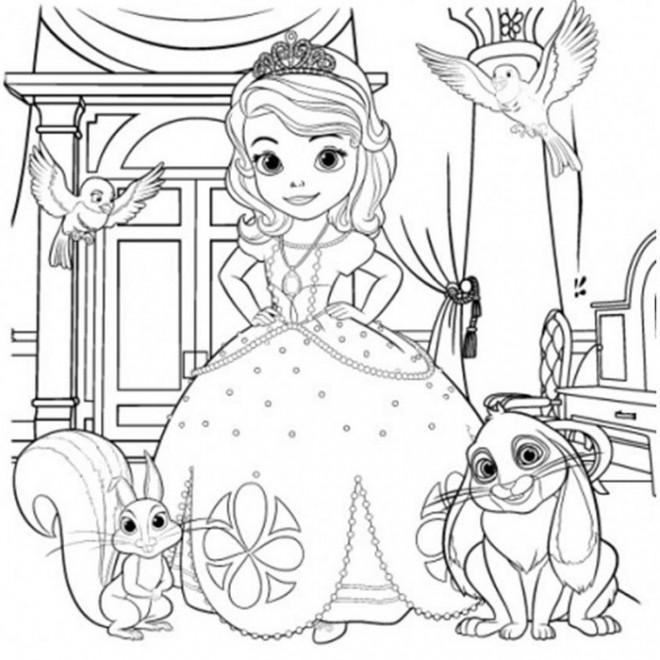 Coloriage Princesse Sofia Gratuit A Imprimer