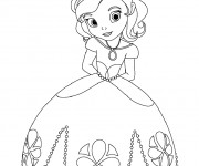 Coloriage Princesse Sofia facile