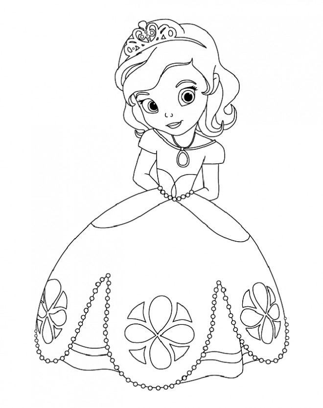 Coloriage princesse sofia facile dessin gratuit imprimer - Coloriage princesse a imprimer gratuit ...
