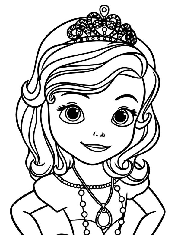 Coloriage et dessins gratuits Princesse Sofia facile à dessiner à imprimer