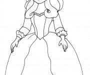 Coloriage Reine Miranda dans princesse Sofia