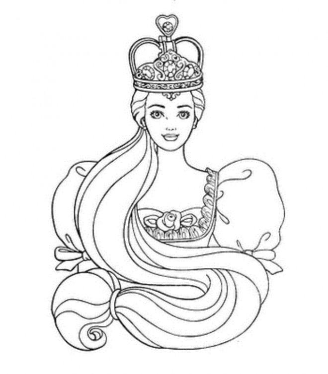 Coloriage La Princesse Raiponce Dessin Gratuit à Imprimer