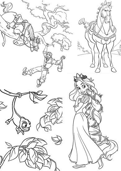 Coloriage et dessins gratuits Les aventures de Raiponce à imprimer