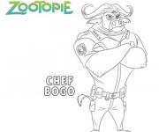 Coloriage Zootopie Chef Bogo