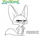 Coloriage Zootopie Finnick