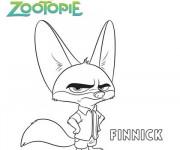 Coloriage et dessins gratuit Zootopie Finnick à imprimer