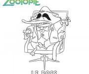 Coloriage et dessins gratuit Zootopie Le Boss à imprimer