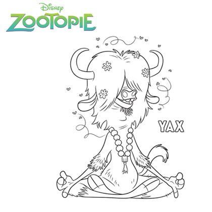 Coloriage et dessins gratuits Zootopie YAX à imprimer