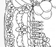 Coloriage Anniversaire 10