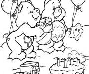 Coloriage et dessins gratuit Anniversaire magique à imprimer