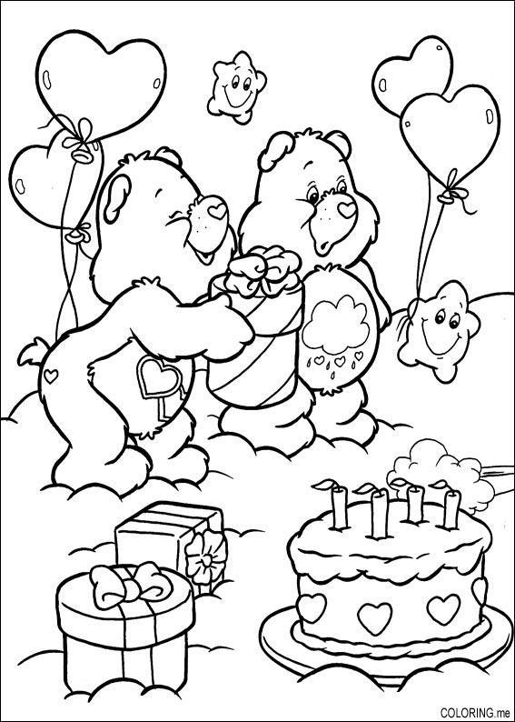 Coloriage et dessins gratuits Anniversaire magique à imprimer