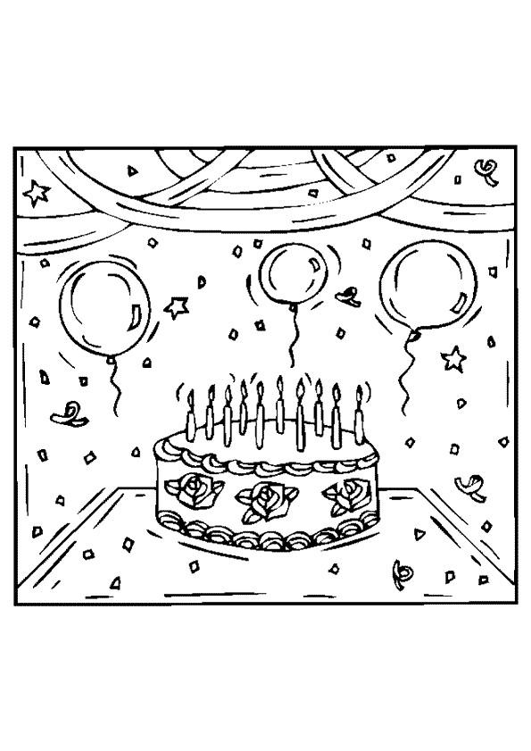 Coloriage d coration pour anniversaire dessin gratuit imprimer - Dessin anniversaire 7 ans ...