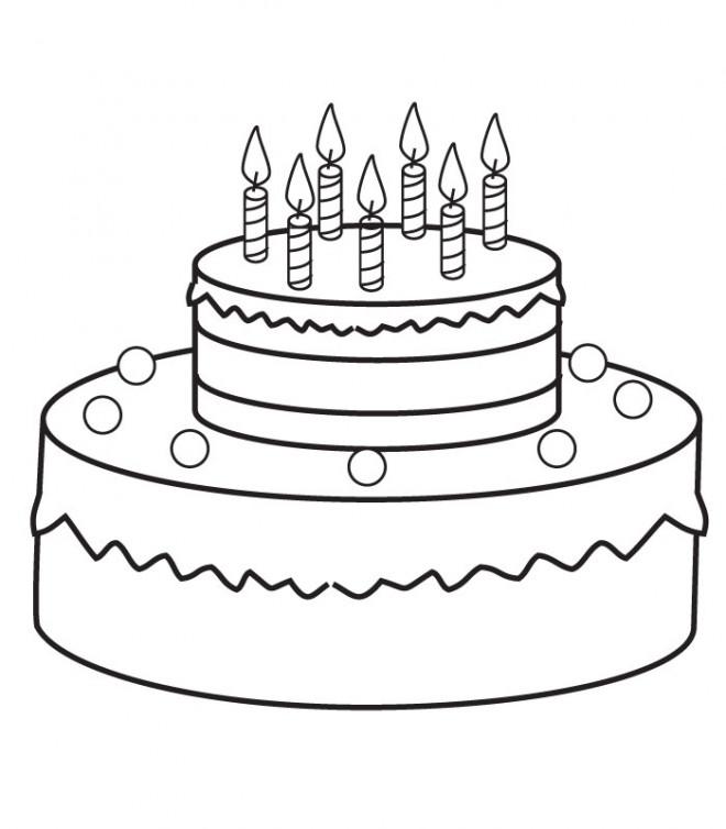 Coloriage Gâteau D Anniversaire à Découper