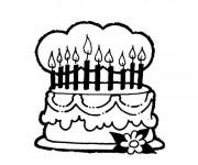 Coloriage Gâteau d'Anniversaire maternelle