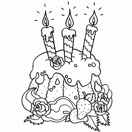 Coloriage jolie g teau pour anniversaire dessin gratuit imprimer - Coloriage pour 3 ans a imprimer ...