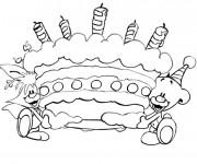 Coloriage et dessins gratuit Joyeux Anniversaire à imprimer