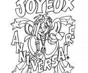 Coloriage et dessins gratuit Joyeux Anniversaire couleur à imprimer