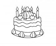 Coloriage et dessins gratuit Joyeux Anniversaire en ligne à imprimer