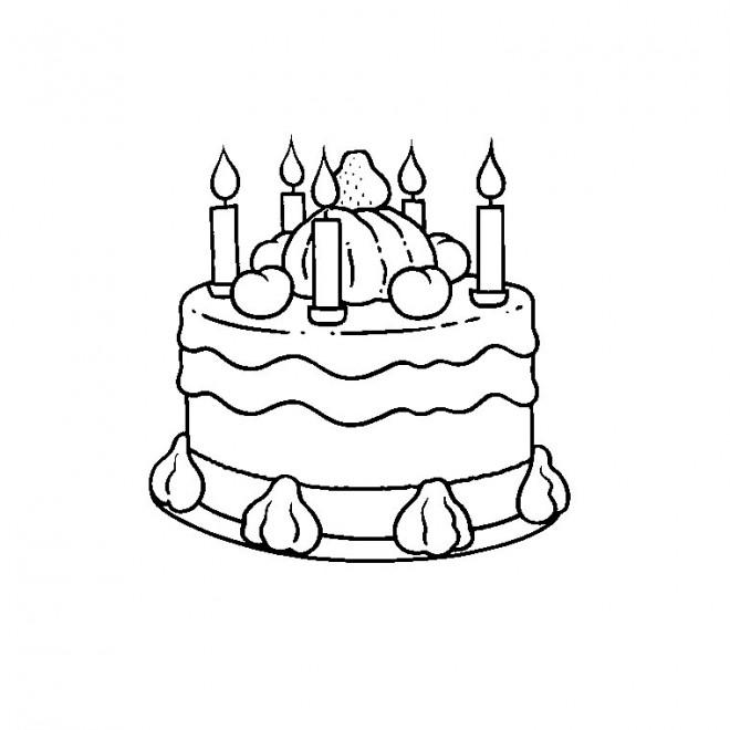 Coloriage joyeux anniversaire en ligne dessin gratuit - Dessin d anniversaire facile ...
