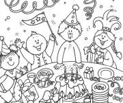 Coloriage et dessins gratuit La Joie d'Anniversaire à imprimer