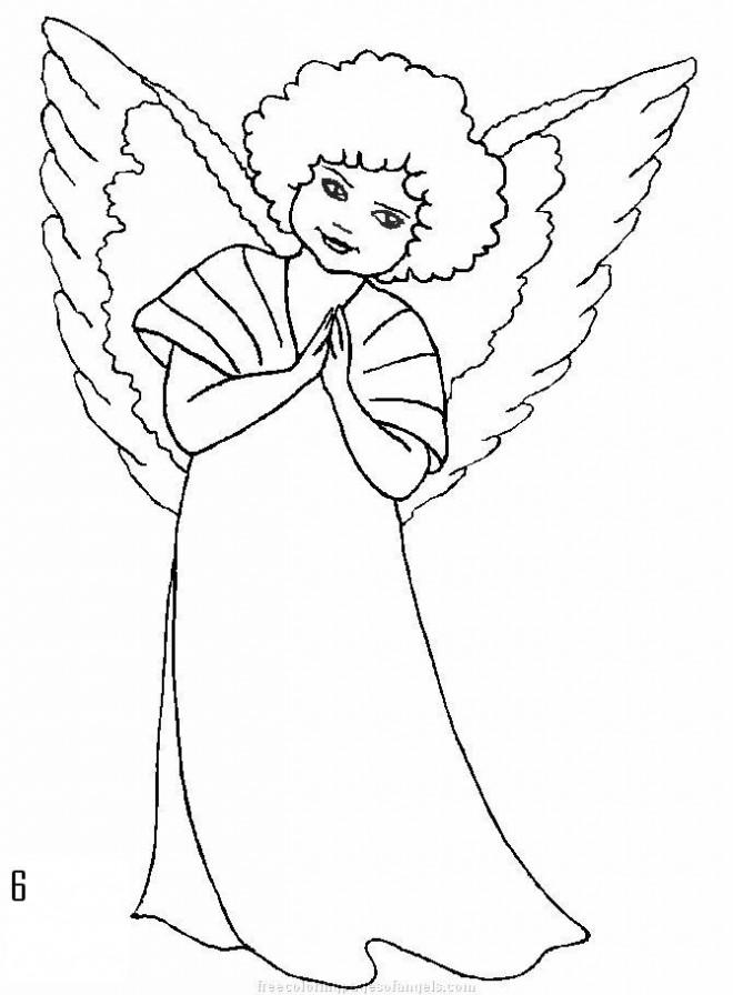 Coloriage et dessins gratuits Ange avec ses ailes à colorier à imprimer