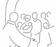 Coloriage et dessins gratuit Baptême à L'église à imprimer