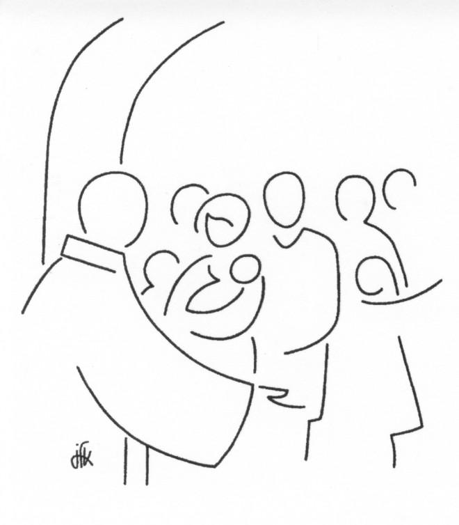 Coloriage et dessins gratuits Baptême à L'église à imprimer