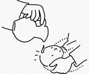 Coloriage et dessins gratuit Baptême bébé à imprimer