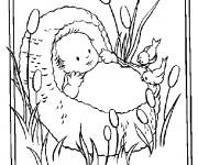 Coloriage et dessins gratuit Baptême Bébé couleur à imprimer