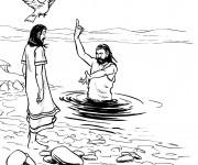 Coloriage Baptême chrétien