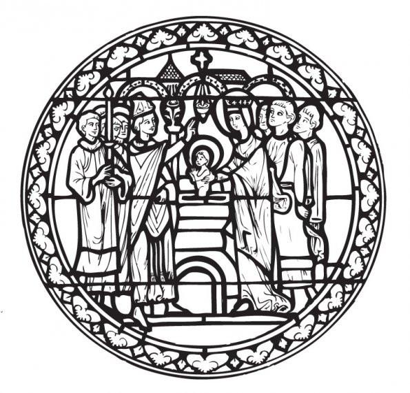 Coloriage et dessins gratuits Baptême de Jésus  décoration d'église à imprimer