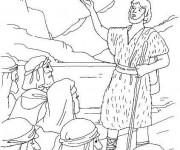 Coloriage Baptême de Jésus sacrement