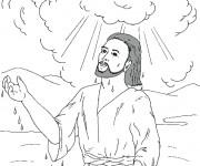Coloriage Baptême du Seigneur
