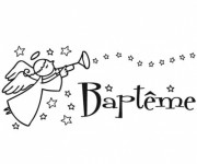 Coloriage et dessins gratuit Baptême en ligne à imprimer
